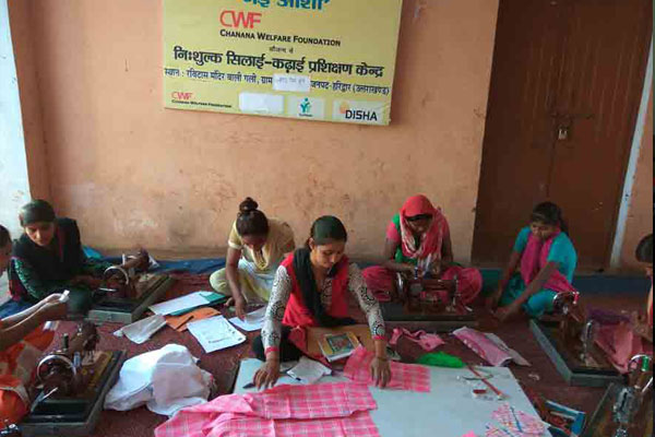 Sewing and embroidery training at the Vocational Training Centre in Roorkee