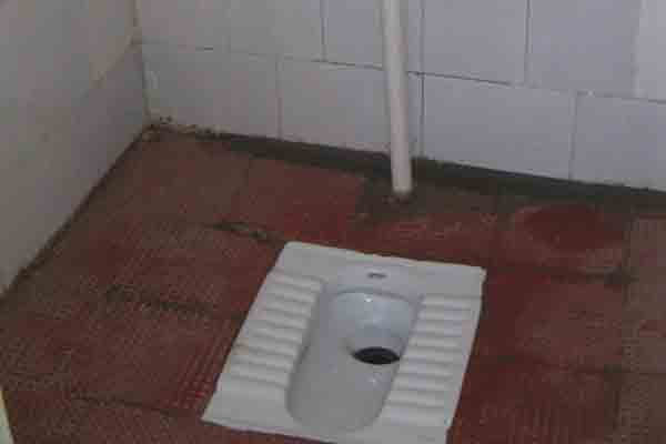 Toilets prior to renovation work.